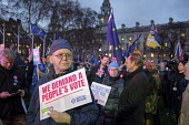 Peoples Vote protest as Parliament votes on Brexit, Westminster, London - Philip Wolmuth - 15-01-2019