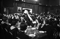 Girton College Cambridge 1959 Women students dining in The Great Hall - Kurt Hutton - 17-09-1959