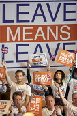Leave Means Leave Rally, Central Hall Westminster, London - Jess Hurd - 2010s,2019,Brexit,campaign,campaigning,CAMPAIGNS,capitalist,Central Hall,EU,European Union,globablisation,Leave,Leave means leave rally,London,POL,political,POLITICIAN,POLITICIANS,Politics,rallies,Ral