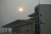 Amritsar, Punjab, India, Air pollution, Sun at 9.00 AM seen through thick smog. Air pollution in India is a serious issue with the major sources being fuelwood and biomass burning, fuel adulteration,... - Martin Mayer - 2010s,2018,Air Pollution,Air Quality,Amritsar,building,buildings,BURN,burning,BURNS,cities,City,CONGESTED,congestion,ENI,environment,environmental degradation,Environmental Issues,fuel,India,Low visib