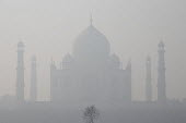 Air pollution in India, The Taj Mahal in thick smog, Agra. Air pollution in India is a serious issue with the major sources being fuelwood and biomass burning, fuel adulteration, vehicle emission and... - Martin Mayer - 2010s,2018,ACE,Agra,Ahmad,Air Pollution,Air Quality,architecture,arts,Asia,asian,asians,attraction,attractions,Base,belief,building,buildings,BURN,burning,BURNS,channel,channels,cities,City,Civic,clou
