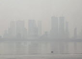 Air pollution in India, Mumbai; High rise buildings through morning smog. Mumbai as the fourth most polluted city in the world. Air pollution in India is a serious issue with the major sources being f... - Martin Mayer - 11-11-2018