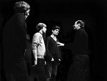 William Gaskill directing SAVED by Edward Bond, Royal Court Theatre London 1965.(L to R) William Stewart, Dennis Waterman, John Bul and William Gaskill - Patrick Eagar - 29-10-1965