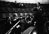 William Gaskill directing SAVED by Edward Bond, Royal Court Theatre London 1965. With Jane Howell, Keith Johnstone and Iain Cuthbertson - Patrick Eagar - 29-10-1965
