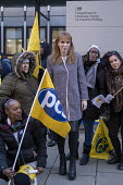 Angela Rayner MP, PCS strike, BEIS, London by outsourced cleaners, receptionists and security for a London Living Wage, sick pay and annual leave - Jess Hurd - 22-01-2019