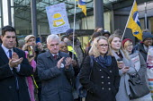 John McDonnell, Rebecca Long-Bailey MP, PCS strike, BEIS, London by outsourced cleaners, receptionists and security for a London Living Wage, sick pay and annual leave - Jess Hurd - 22-01-2019