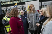 Fran Heathcote PCS, Angela Rayner MP, Rebecca Long-Bailey MP, PCS strike, BEIS, London by outsourced cleaners, receptionists and security for a London Living Wage, sick pay and annual leave - Jess Hurd - 22-01-2019