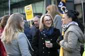 Rebecca Long-Bailey MP with Katie Leslie, PCS strike, BEIS, London by outsourced cleaners, receptionists and security for a London Living Wage, sick pay and annual leave - Jess Hurd - 22-01-2019
