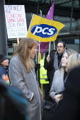 PCS strike, BEIS, London by outsourced cleaners, receptionists and security for a London Living Wage, sick pay and annual leave - Jess Hurd - 2010s,2019,annual leave,cleaner,cleaners,CLEANING,DISPUTE,disputes,EARNINGS,FEMALE,Income,Industrial dispute,joint,Labour Party,leave,London,London Living Wage,Low Pay,Low Income,low paid,Low Pay,MEMB