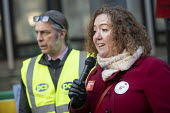Fran Heathcote, PCS strike, BEIS, London by outsourced cleaners, receptionists and security for a London Living Wage, sick pay and annual leave - Jess Hurd - 22-01-2019