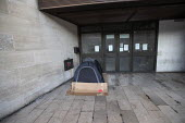 Tent of Homeless person, Westminster, London, Cardboard box from Habitat - Jess Hurd - 2010s,2019,building,buildings,cities,City,cold,Department for Business,Energy and Industrial Strategy,excluded,exclusion,Habitat,HARDSHIP,Homeless,homelessness,impoverished,impoverishment,INEQUALITY,L