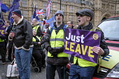Brexit supporters protest, Houses of Parliament as MPs vote on amendments withdrawal deal with the EU, Westminster, London - Philip Wolmuth - 29-01-2019