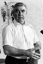 Joe Gormley NUM Pres 1976, fiftieth anniversary of 1926 General Strike, TUC commemoration, Covent Garden, London - Chris Davies - 04-07-1976
