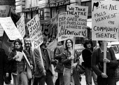 Protest against cuts to Community Theatre funding London 1977 - John Sturrock - 30-09-1977
