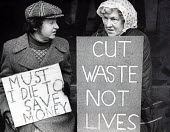 Kidney patients protest NHS cuts in dialysis machines, London 1980 - Nick Oakes - 1980,1980s,activist,activists,against,CAMPAIGNING,CAMPAIGNS,cuts,DEMONSTRATING,demonstration,FEMALE,London,machines,male,man,men,NATIONAL HEALTH SERVICE,NHS,patient,patients,people,person,persons,plac