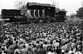 Artists Against Apartheid free music festival Clapham Common London 1986. After a March and Rally in London against apartheid in South Africa artists stage a free concert in support of the Anti-Aparth... - Stefano Cagnoni - 28-06-1986