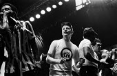 Billy Bragg, Artists Against Apartheid free music festival Clapham Common London 1986. After a March and Rally in London against apartheid in South Africa artists stage a free concert in support of th... - Stefano Cagnoni - 28-06-1986