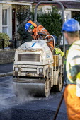 Road Maintenance workers repairing the road, Bristol - Paul Box - 2010s,2019,application,applied,applying,ASPHALT,cities,City,contractor,contractors,driver,drivers,driving,EBF,Economic,Economy,employee,employees,Employment,highway,job,jobs,lay,laying,LBR,machine,mac