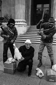 Spike Milligan Animals' Vigilantes protest against seal culling 1981. Actor Spike Milligan lobbying against culling seal pups for their fur, Canada House, London. They presented a petition of 190,000... - Martin Mayer - 1980s,1981,ACTING,activist,activists,Actor,ACTORS,against,animal,Animal Rights,Animal Welfare,animals,Animals' Vigilantes,campaigner,campaigners,CAMPAIGNING,CAMPAIGNS,Canada,cull,culling,culls,DEMONST