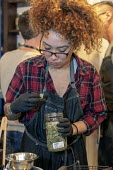 Michigan, USA, The Greenhouse medical marijuana dispensary - Jim West - 2010s,2019,African American,African Americans,assistant,assistants,BAME,BAMEs,black,BME,bmes,cannabinoids,cannabis,dispensary,diversity,drug,drugs,EBF,Economic,Economy,employee,employees,Employment,et