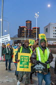 Detroit, Michigan, USA. GM workers protest closure of five factories at the North American International Auto Show for a Green New Deal - Jim West - 2010s,2019,activist,activists,African American,African Americans,against,America,American,americans,auto,auto workers,Automotive Industry,BAME,BAMEs,BEMM,BEMMS,black,BME,bmes,CAMPAIGNING,CAMPAIGNS,clo