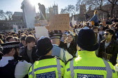 Climate strike students blocking the roads around Parliament Square, Westminster, London. - Jess Hurd - 15-02-2019