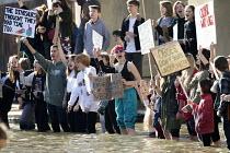 Climate strike students protest, Bristol - Paul Box - activist,activists,adolescence,adolescent,adolescents,against,CAMPAIGN,campaigner,campaigners,CAMPAIGNING,CAMPAIGNS,child,CHILDHOOD,children,Climate Change,DEMONSTRATING,Demonstration,DEMONSTRATIONS,d