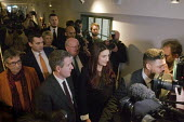 Labour split. Press chaos, seven Labour MPs leaving press conference following their resignation from the Labour Party to form The Independent Group. The seven MPs are Chris Leslie, Mike Gapes, Angela... - Stefano Cagnoni - 18-02-2019