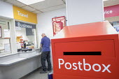 Post office in WH Smiths, Kingswood, Bristol - Paul Box - 2010s,2019,buying,commodities,commodity,consumer,consumers,counters,customer,customers,EBF,Economic,Economy,MAIL,outlet,outlets,POST,Post Office,Post Office,Postal Service,postbox,public services,PURC