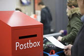 Post office in WH Smiths, Kingswood, Bristol - Paul Box - 2010s,2019,buying,commodities,commodity,communicating,communication,consumer,consumers,counters,customer,customers,EBF,Economic,Economy,letter,letters,MAIL,outlet,outlets,POST,Post Office,Post Office,