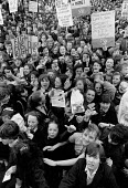Liverpool 1985, School pupils strike against YTS conscription, Youth Training Scheme was to be compulsory - Dave Sinclair - 1980s,1985,activist,activists,against,campaign,campaigner,campaigners,campaigning,CAMPAIGNS,child,CHILDHOOD,children,cities,city,DEMONSTRATING,Demonstration,DEMONSTRATIONS,female,females,girl,girls,ju