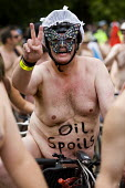 Oil Spoils, World Naked Bike Ride. London. - Jess Hurd - 14-06-2009