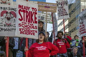 Oakland, California, USA: Teachers strike protest for smaller class sizes, more resources and higher pay - David Bacon - 2010s,2019,activist,activists,against,California,CAMPAIGNING,CAMPAIGNS,charter schools,DEMONSTRATING,demonstration,dispute,disputes,EARNINGS,education,FEMALE,member,member members,members,Oakland,Oakl