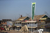 Persimmon housebuilding, Wellesbourne, Warwickshire. Persimmon enjoyed a 31% operating profit margin subsidised by the help-to-buy scheme - John Harris - 27-02-2019