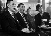 Men singing together, Working Mens Club Selby Yorkshire 1954 - Phil Preston - 08-01-1954