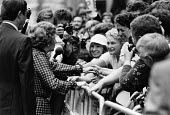 Margaret Thatcher Conservative Party election victory, 1983 receiving congratulations from the public, Downing Street, London - NLA - 1980s,1983,1983 election,CELEBRATE,celebrating,celebration,celebrations,CONSERVATIVE,Conservative Party,conservatives,DEMOCRACY,Downing Street,election,elections,general election,greeting,London,Marga