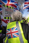 UK UNITY ORG Yellow Vest pro Brexit protest, Westminster, London. Stop BBC and Sky TV Fake News - Jess Hurd - 09-03-2019