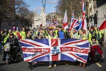 UK UNITY ORG Yellow Vest pro Brexit protest, Westminster, London - Jess Hurd - 09-03-2019