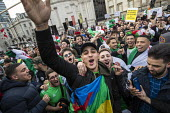 Algerians protest for regime change in Algeria, Westminster, London - Jess Hurd - 2010s,2019,activist,activists,against,Algeria,algerian,Algerians,BAME,BAMEs,BME,bmes,CAMPAIGNING,CAMPAIGNS,change,cities,City,DEMONSTRATING,demonstration,diversity,ethnic,ethnicity,Human Rights,impris