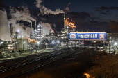Detroit, Michigan, USA: The Marathon Petroleum Refinery - Jim West - 2010s,2019,air pollution,capitalism,CHEMICAL,chemicals,chimney,chimneys,Climate Change,dark,Detroit,EBF,Economic,Economy,energy,ENI,environment,Environmental degradation,Environmental Issues,FACTORIES