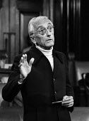 Jacques Cousteau, London 1982, the French underwater explorer speaking at an environmental conference - NLA - 15-06-1982