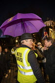 Pro Brexit UKIP campaigners protest outside Parliament during votes on how the UK leaves the European Union, Westminster, Londo - Jess Hurd - 12-03-2019
