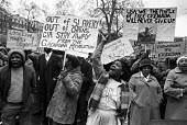 Protest in support of the 1979 Grenadian revolution London 1983 and against the attempts by the US to destabilise it - NLA - 07-04-1983