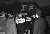 Water workers pay strike picket, Hampton, West London, 1983 for the first time ever, for their pay claim, here picketing at Hampton, West London. The issues behind the strike were the government's wis... - NLA - 05-02-1983
