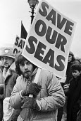 Greenpeace protest against dumping toxic waste in the sea 1983, International Maritime Conference, London. The London Dumping Convention halted all ocean dumping of radioactive waste - NLA - 1980s,1983,abandoned,activist,activists,against,campaigner,campaigners,CAMPAIGNING,CAMPAIGNS,chemical,chemicals,Conference,conferences,DEMONSTRATION,dump,dumped,Dumping,environment,Environmental degra