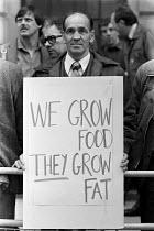 TGWU farmworkers lobby MAFF, London 1983 in support of their pay claim - NLA - 27-05-1983
