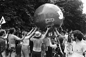 CND protest ringing around the Soviet and US embassies, London 1983 - NLA - 16-07-1983