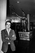 Gerald Scarfe exhibition, The Royal Festival Hall London 1983 with a statue of Margaret Thatcher, The Tomb of the Unemployed - NLA - 10-03-1983