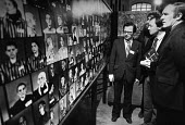 Ken Livingstone visiting Auschwitz - An Exhibition 1983. A sombre looking GLC leader visiting Holocaust memorial exhibition about the Auschwitz death camps, Crypt of St. George's in the East, Stepney,... - NLA - 28-03-1983