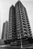 Housing problems, London 1983 High rise council flats, Rymill street, North Woolwich - NLA - 06-01-1983